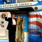 Robert Charles Hunter and Diane Ladd at Air Force One